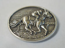 New Enmon Horse Racing Metal Concho Leather Western Screw Back Craft Silver Tack