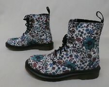Dr. Martens Page Wanderlust Canvas Lester Boots Off White Floral MM1 Size 6
