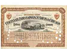 Cincinnati Indianapolis St. Louis Chicago Railway 1889