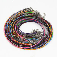 New Fashion Wholesale Lots 20 Pcs Mixed Color Leather Cord Necklace Chain Rope