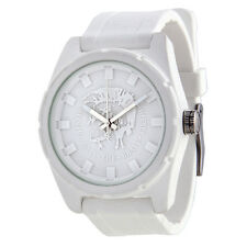 Diesel Rubber Company White Dial White Rubber Mens Watch DZ1590