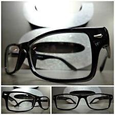 Men Women CLASSIC VINTAGE Style Clear Lens EYE GLASSES Small Black Fashion Frame