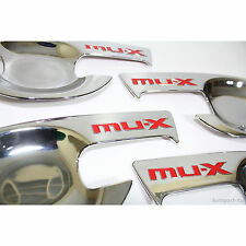 CHROME HANDLE BOWL COVER TRIM FIT FOR ISUZU MU-X 4 DOORS 2013 - 2016