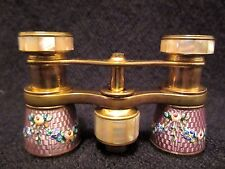 Antique Lemaire Pink Guilloche Enamel French Opera Glasses
