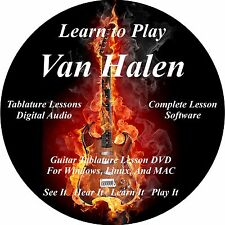 Van Halen Guitar TABS Lesson CD 139 Songs! 54 Backing Tracks, MEGA BONUS
