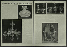 Antique / Irish Glass Of The 18th And 19th Century 1958 2 Page Photo Article