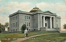 Vintage Postcard; Orono ME New Library Building U of M Penobscot County