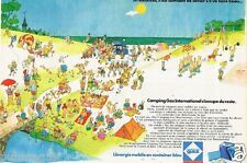 Publicité advertising 1972 Camping gaz International