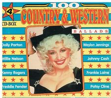 100 Country & Western Ballads 4 CD-Box 1991