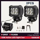 2x 18W 4 inch LED Work Light CREE Spot Jeep 4x4 offroad SUV Boat Fog Lamp Truck
