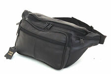 Large Fanny Pack Genuine Leather Waist Travel Bag Adjustable Organizer Belt XL