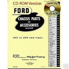1973 - 1979 FORD TRUCK MASTER PARTS LIST CD