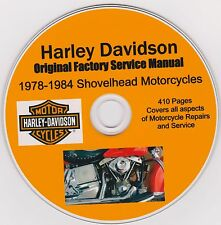 HARLEY DAVIDSON Shovelhead Original Factory Shop Repair Manual 1978-1984
