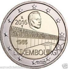 2 euros Luxembourg 2016 - 50 ans du Pont de la Grande Duchesse Charlotte - UNC