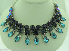 Sorrelli Northern lights Necklace NCQ1ASNL antique silver tone