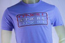 O'NEILL MEN'S BLUE PREMIUM GRAPHIC T-SHIRT W/LOGO size Small
