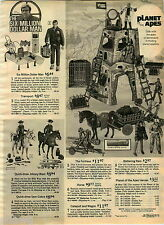 1976 ADVERT Toy Six Million Dollar Man Planet Of The Apes Heroes Action Figures