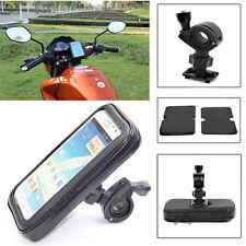 """5""""/6"""" Waterproof Motorcycle Bike Cycle GPS SAT NAV Leather Case Mount Holder UK"""