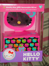 Brand New Hello Kitty Jewelry Box W/ Removable Mirror Pink And Black
