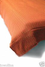Bettüberwurf  Plaid Strand/Picknickdecke 150 x 210 cm Baumwolle Jacquard orange