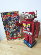 1970s ROBOT - SUPER ASTRONAUT ROTAT-O-MATIC - Tin Space Toy
