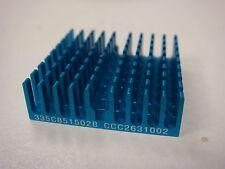 (4) CCI JIFU 335C851502B 32X32X10mm BLUE ALUMINUM EXTRUDED CHIP HEATSINK