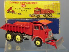 DINKY  SUPERTOYS MODEL No.959 FODEN DUMP TRUCK  WITH BULLDOZER BLADE  VN MIB
