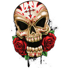 """""""Best Of Skulls"""" Temporary Tattoo, Sugar Skull & Roses, Calavera, Made in USA"""
