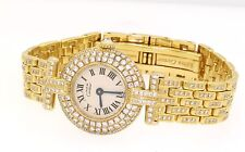 Cartier Vendome Panthere heavy 18K and vermeil 5.15ct VS1/F diamond ladies watch