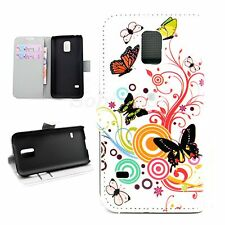 Protective Leather Stand Pouch Wallet Case Cover For Samsung Galaxy S5 V Mini