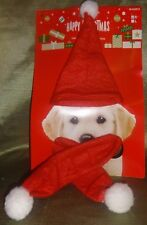 Red Christmas Pet Hat and Scarf