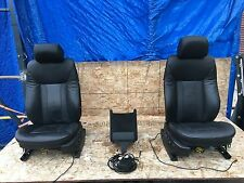 BMW OEM E53 IS PACKAGE FRONT HEATED NAPA STITCHED LUXURY LEATHER SEATS MONITORS