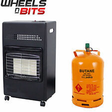 New 4.2Kw Portable Home Butane Fire Calor Gas Cabinet Heater 35mm Regulator Hose
