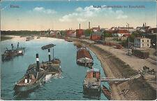 Riesa, Schiff, Dampfer, Kettendampfer an der  Landungsbrücke der Dampschiffe