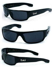 Locs Motorcycle Bikers Cholo Sport Outdoor Mens OG Style Sunglasses - Black LC11