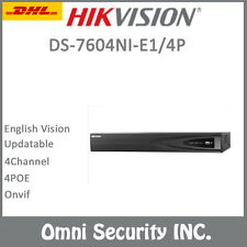 Hikvision DS-7604NI-E1/4P 6MP 4CH NVR 4 POE Port HDMI H.264+ Onvif Alarm Audio