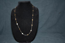 Avon Gold Woman's Fashion Jewelry String and Circle Rope Necklace