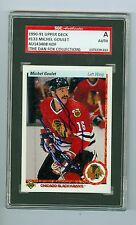 Michel Goulet Autographed 1990-91 Upper Deck Card #133 SGC Authentic Encased