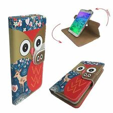 Mobile Phone Book Cover Case For Zen Admire Glam - Deer Owl S