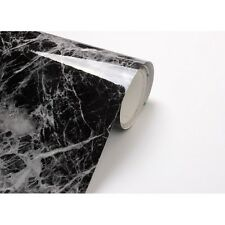 2m *Black Granite Marble Look Counter Top Self Adhesive Peel-Stick Wallpaper 401