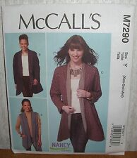 Womens/Misses Jackets & Vests Sewing Pattern/McCall's M7290/SZ XS-M/UCN