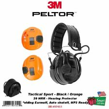 3M Peltor Tactical Sport Hearing Protector, NRR: 20dB, Folding Earmuff #97451
