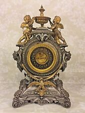 Ansonia Clock Lydia Model w/ Serpents Cherubs Womens' Busts & Eagle Detailing