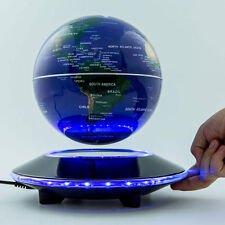 "6"" UFO Shaped Base Maglev Levitating Globe World Map Home Decor Blue Black"