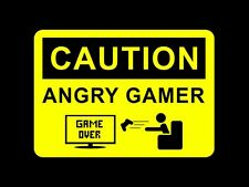 ANGRY GAMER, GAMING, XBOX PLAYSTATION INSPIRATIONAL / POSTER /A4 PRINT
