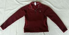 The North Face Tka 200 fleece jacket,cranberry 1/4 zip,marsupial pocket,womens S