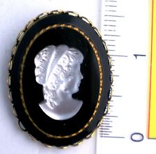 GORGEOUS ANTIQUE GLASS CAMEO RATHER LARGE