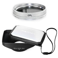 43mm 16:9 Wide Lens Hood,CPL Filter for Canon Vixia HF R72 R700 R70 R600 R62 R60