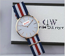 NEW Rose Gold  Watches Women Men Watch Top Brand Watches Nylon Band Watches