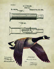 "Duck Hunting Antique Goose Calls Patent Poster Art Print 11""x14"" Decoys PAT158"